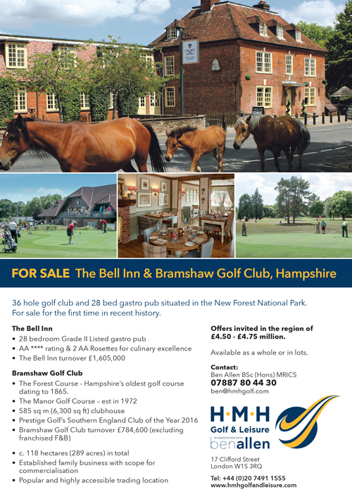 Golf courses for sale The Bell Inn & Bramshaw Golf Club